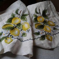 Tovaglia 12p.  Limoni